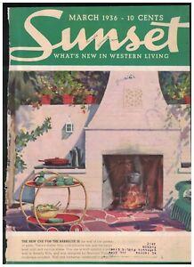 1936 Sunset March - Houses in Los Feliz Hills, Balboa Island; Inglewood; Arizona