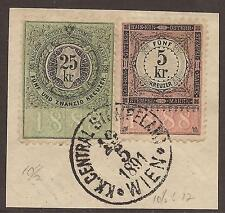 Used Fiscal, Revenue Austrian Stamps
