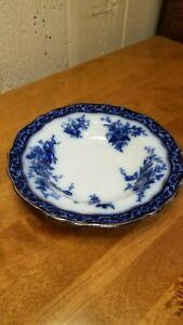 "Touraine Stanley Pottery Flow Blue England 7 3/4"" Dessert Plate  c.1928-32"
