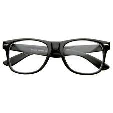 Vintage Inspired Eyewear Original Geek Nerd Black Clear Lens Horn Rimmed Glasses
