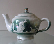 VICTORIAN LUSTRE WARE SMALL TEAPOT - MAIDEN & SWAN  **