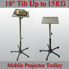 Height Adjustable 18° Tilt Sturdy Mobile Projector Floor Stand Trolley
