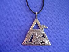 Scottish Deerhound Irish Wolfhound necklace #16A Dog Jewelry by Cindy A. Conter