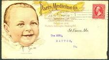 1900, Paris Medicine Baby illustrated multi colored advertising cover