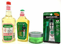 Pinaud Clubman After Shave Lotion Hair Tonic Pomade & Noustache Wax