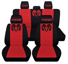 Truck Seat Covers Fits 2004 Dodge Ram 1500 Black and Red Insert Personalized