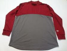 Youth Rawlings L L/S Athletic Warmup Shirt Pullover (Maroon/Gray)