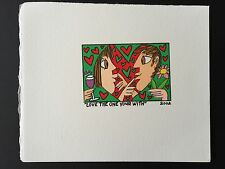 """James RIZZI: Original Farblithographie """"LOVE THE ONE YOUR WITH"""", 3D Vorlage 2002"""