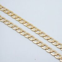 """18"""" 7MM MENS GOLD EP CUBAN LINK NECKLACE CHAIN"""