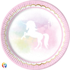 Believe in Unicorns Magical Unicorn Party Celebration Large Lunch Plates (8)