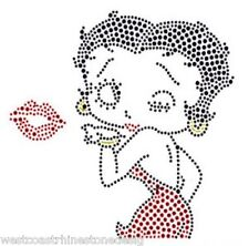 Betty Boop #3 Rhinestone Iron on T Shirt Transfer     TKL9