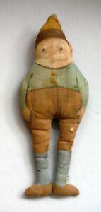 "Antique Palmer Cox Brownie Cloth Printed Doll 7 1/4"" Tall P984"