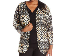Star Vixen Women's Plus-Size Hachi Cocoon Cozy Aztec Cardigan Cover-up Size 1X