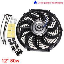 "Universal Slim 12"" 80W Engine Radiator Oil Cooling Electric Pull Push Fan Blades"