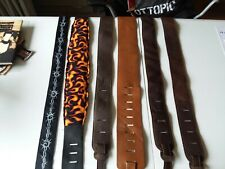 Vintage Leather and Nylon Guitar Strap lot of 6. Nice lot.