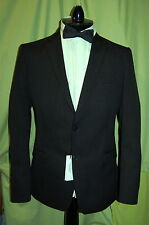 NWT VERSACE COLLECTION mens 2 button dk charcoal stripe wool suit 52R 42 W 37""