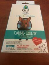 """Brand New Boxed Calm Paws Caring Collar with Calming Gel Patch XSmall Neck 6""""-9"""""""