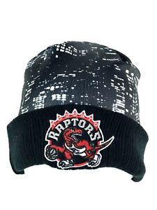 Toronto Raptors Basketball Friday Night Black Cuff Beanie Stocking Hat Cap
