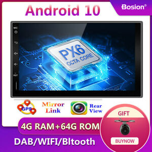 """9"""" 1din android 10 for universal px6 8-core car gps navi stereo radio wifi dab +"""