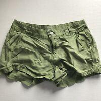 J. Crew Olive Army Green Linen Cotton Blend Shorts Sz 4 *read* A1446