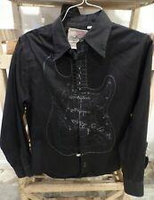 Fender Button Up Shirt Mens L Guitar Da Vinci  Long Sleeve Shirt