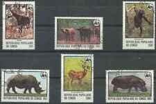 Timbres Animaux Congo 499/504 o lot 25611