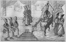 PERSISCHER KÖNIG ROI DE PERSE PERSIEN IRAN ORIGINAL-STAHLSTICH 1841