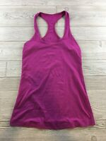 Lululemon Cool Racerback Pink Tank Top Luon Sz Unknown Fitted Running Yoga