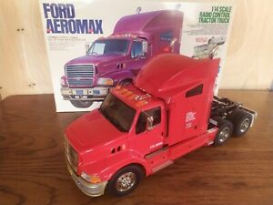 Tamiya Semi Truck Ford Aeromax 56309 1/14 R/C TRACTOR RED Custom Kit UK Seller