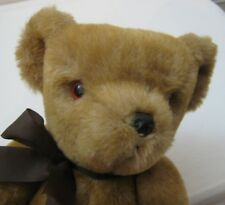 Vtg Dean's GwentoyTeddy Bear Fully Jointed Golden Brown Rattle Mohair? 1980s