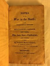 RARE 1819 Notes War South, Jackson, Creek Indians, Sevier, New Orleans, Richmond