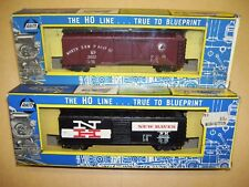 AHM / Rivarossi Northern Pacific Wood Sheathed Box Car & New Haven Box Car