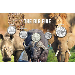 Authentic Genuine Collectable Silver Coins Big Five Animals Collection