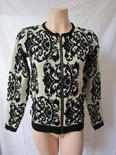 HQ Black & Ecru Cardi Suits Size 10 Wool Blend | NWOT