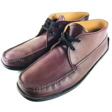 Tod's Chukka Boots Mens 10 Burgundy Wine Moccasin Ankle Boots Lace