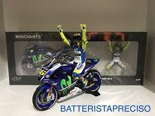 MINICHAMPS VALENTINO ROSSI 1/12 SET YAMAHA + FIGURE 2015 WINNER GP SILVERSTONE