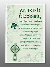 An Irish Blessing Glass Plaque - Sentiments Product Range - Holy Religious Gift