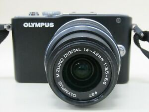 Olympus PEN E-PL3 12.3MP Digital Camera With 14-42mm Lens & Charger