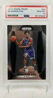 2017 Panini Prizm De'aaron Fox Rookie RC PSA 10 Sacramento Kings Hot!!