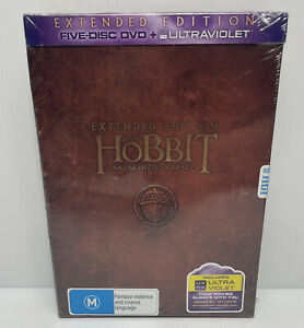 THE HOBBIT AN UNEXPECTED JOURNEY - EXTENDED EDITION DVD [UK] NEW DVD