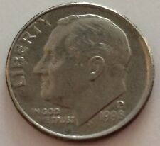 United States of America 1 Dime Coin.  1998.   Silver Colour.