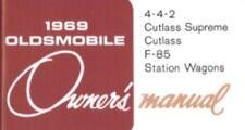 OLDSMOBILE 1969 Cutlass, 442, F-85 Owner's Manual 69