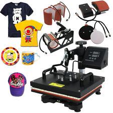 Used 6in1 Heat Press Machine 12x15 Transfer Subimaltion T Shirt Cap Swing Mug
