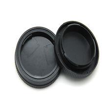 Rear Lens Cap + Camera Front Body Cover for Sony E-Mount NEX-3 NEX-5 Black 2016