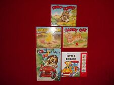 Play Sound Little Engine/Know Animals/My Happy Book Friends - 5 Books 1960s-81