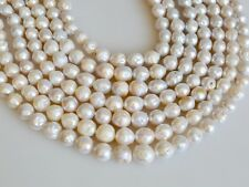8-9 to10-11mm Natural White Baroque Freshwater Pearl Beads Cultured Baroque #278