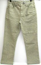 Dg2 by Diane Gilman Animal Print Jeans ~ Gray & Cream ~ Size 4 Inseam 25""
