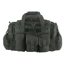 22 IN Tactical Duffel Black Dufflebag Range Bag Molle Straps Multi Pocket Carry