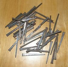 "Vintage Square Nail Hand Forged 2 1/4"" Long Never Used Rustic Patina Lot of 50"