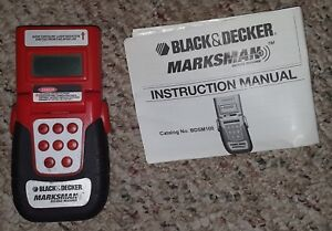 Black & Decker Marksman BDSM100 Digital Laser Distance Measurer Red/Black